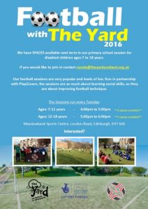 2016 The Yard football poster